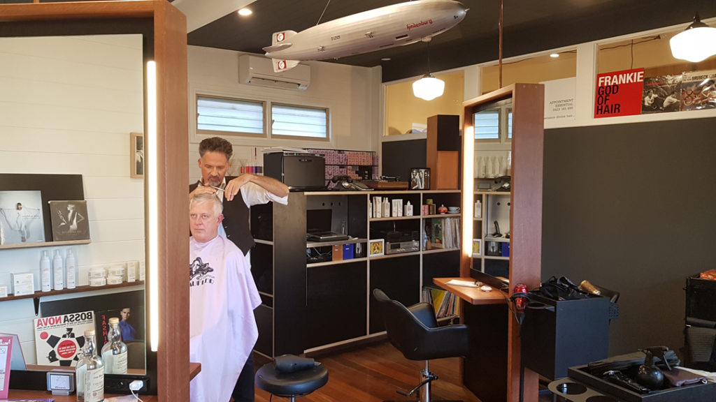 frankie god of hair shop fitting hair salon mullumbimby